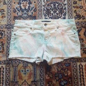 Anthropologie Level 99 marble denim shorts 29